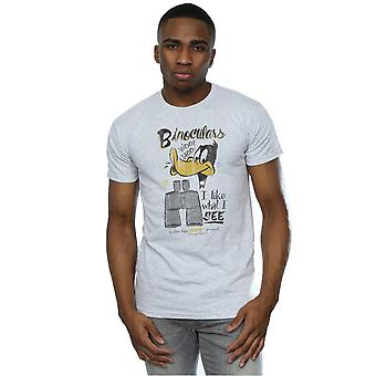 Looney Tunes mäns Daffy Duck kikare T-Shirt