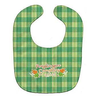 Carolines Treasures  BB6923BIB Fall Pumpkin Spice Gingham Baby Bib