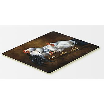 Roosting Rooster and Chickens Kitchen or Bath Mat 20x30