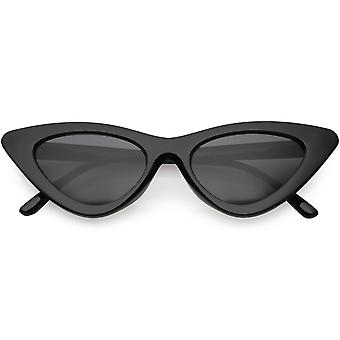 Womens Exaggerated Frame Cat Eye Sunglases Neutral Colored Lens 48mm