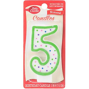 Betty Crocker Numeral Candle-#5 BCCANDLE-20305