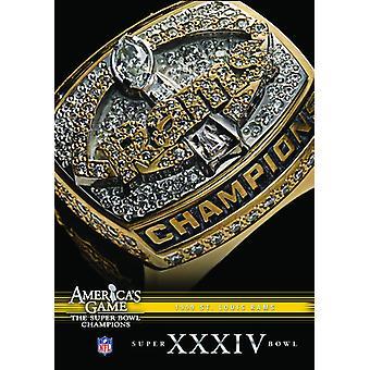 NFL Amerika spil: 1999 Rams (Super Bowl Xxxiv) [DVD] USA importerer