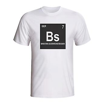 Bastian Schweinsteiger Germany Periodic Table T-shirt (white)