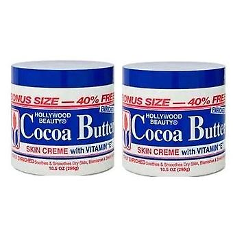 Hollywood Beauty Cocoa Butter With Vitamin- E 7.5oz (2 Pack)
