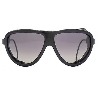 Moncler Noir Sunglasses In Shiny Black Polarised