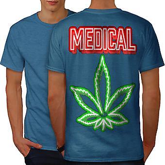 Medical Marijuana Rasta Men Royal BlueT-shirt Back   Wellcoda