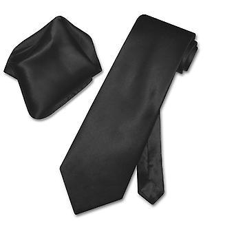 Biagio Solid 100% SILK NeckTie & Handkerchief Men's Neck Tie Set