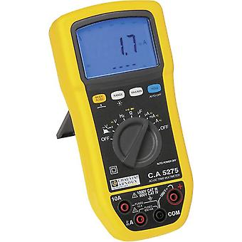 Handheld multimeter Digital Chauvin Arnoux C.A 5275 Calibrated to: Manufacturer's standards (no certificate) Splashproof