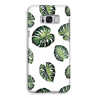 Samsung Galaxy S8 Full Print Case (Glossy) - Tropical leaves