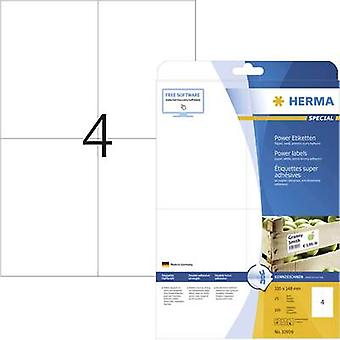 Herma 10909 Labels (A4) 105 x 148 mm Paper White 100 pc(s) Permanent Adhesive labels (extra strong), All-purpose labels