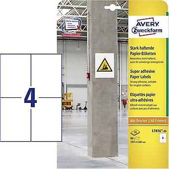 Avery-Zweckform L7876-20 Labels (A4) 105 x 148 mm Paper