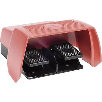 Foot switch 240 V AC 10 A 2-pedal + protective cover
