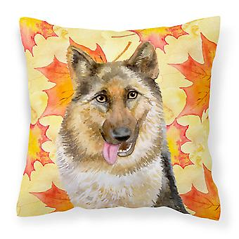 Carolines Treasures  BB9915PW1414 German Shepherd Fall Fabric Decorative Pillow