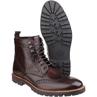 Base London Mens tropa laço Casual as botas de couro