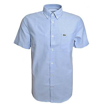 Lacoste Men's Regular Fit Light Blue Short Sleeved Shirt