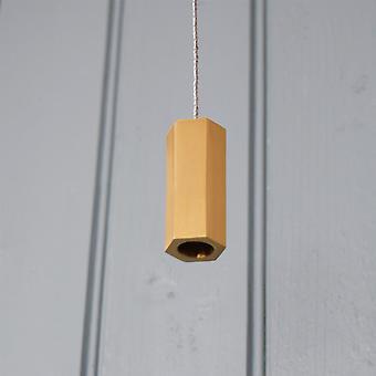Brushed Brass Gold Hexagonal Bathroom Light Pull
