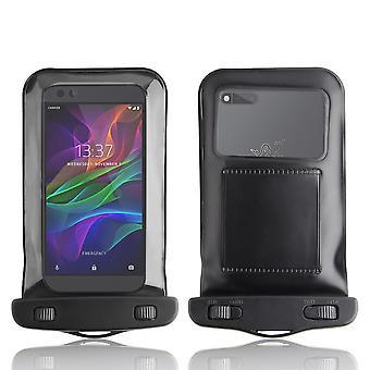 InventCase Waterproof Dustproof Bag Protective Case Cover for Razer Phone - Black