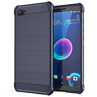 HTC Desire 12 Carbon Anti-Herbst TPU Case - blau