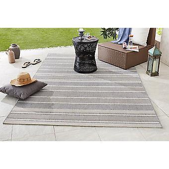 Design- og Outdoorteppich flad stof rem sølv grå