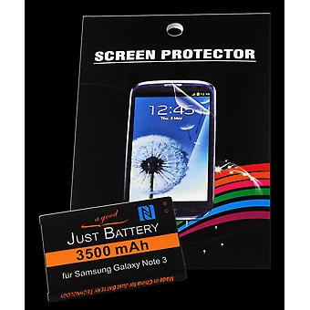 Battery + 4 x film for Samsung Galaxy GT n9000 note 3