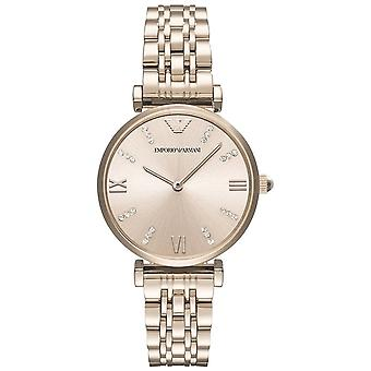 Armani Watches Ar11059 Rose Gold Stainless Steel Ladies Watch