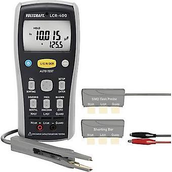 Medidor de componentes LCR VOLTCRAFT-400 Digital calibrado a: las normas del fabricante (no certificado) CAT I pantalla (coun