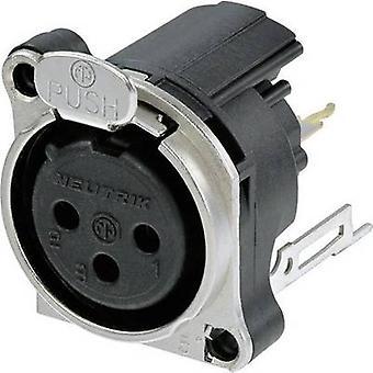 Neutrik NC3FBV2 XLR connector Sleeve socket, straight pins Number of pins: 3 Black 1 pc(s)