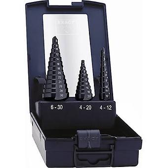 HSS Step drill bit set 3-piece 4 - 12 mm, 4 - 20 mm, 6 - 30 mm T