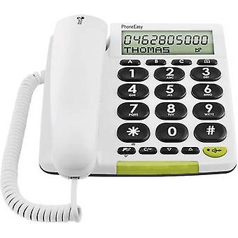 doro PhoneEasy 312cs Corded Big Button Visual call notification, Hands-free Matte White