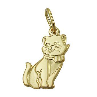 Parte di gatto Ciondolo oro 333 arruffati 8 kt oro