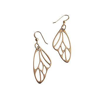 Butterfly vleugel oorbellen verguld bronzen vlinder