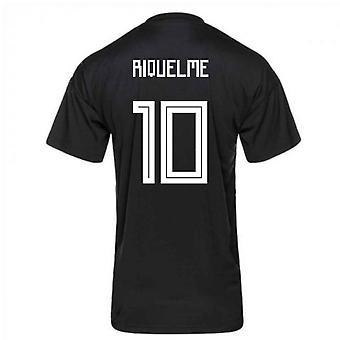 2018-2019 Argentina Adidas Pre-Match Shirt (Blue) (Riquelme 10)