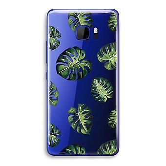 HTC U Ultra Transparent Case - Tropical leaves