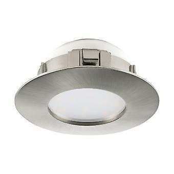 Eglo LED 埋め込み式スポット ライト 78 mm マット ニッケル、ドリフトピン