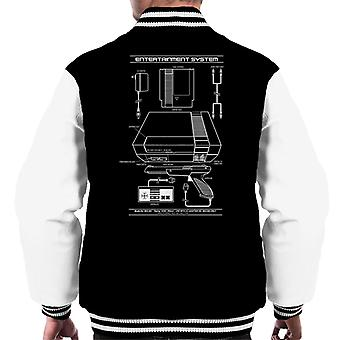 Nintendo Entertainment System NES Patent Blueprint Men's Varsity Jacket
