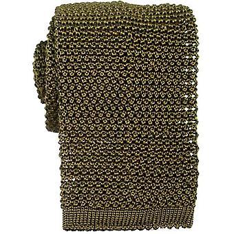 KJ Beckett Knitted Silk Tie - Green