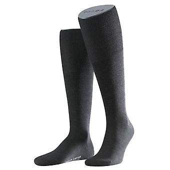 Falke Airport Socken Knie hoch - anthrazit