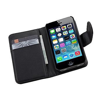 TRIXES nero PU Executive portafoglio Flip Card Custodia per Apple iPhone 4 4S