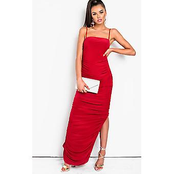 IKRUSH Womens Tia Slinky côté Split Maxi robe