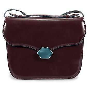 Marni Medium Mrs Midi Shoulder Bag in Wine