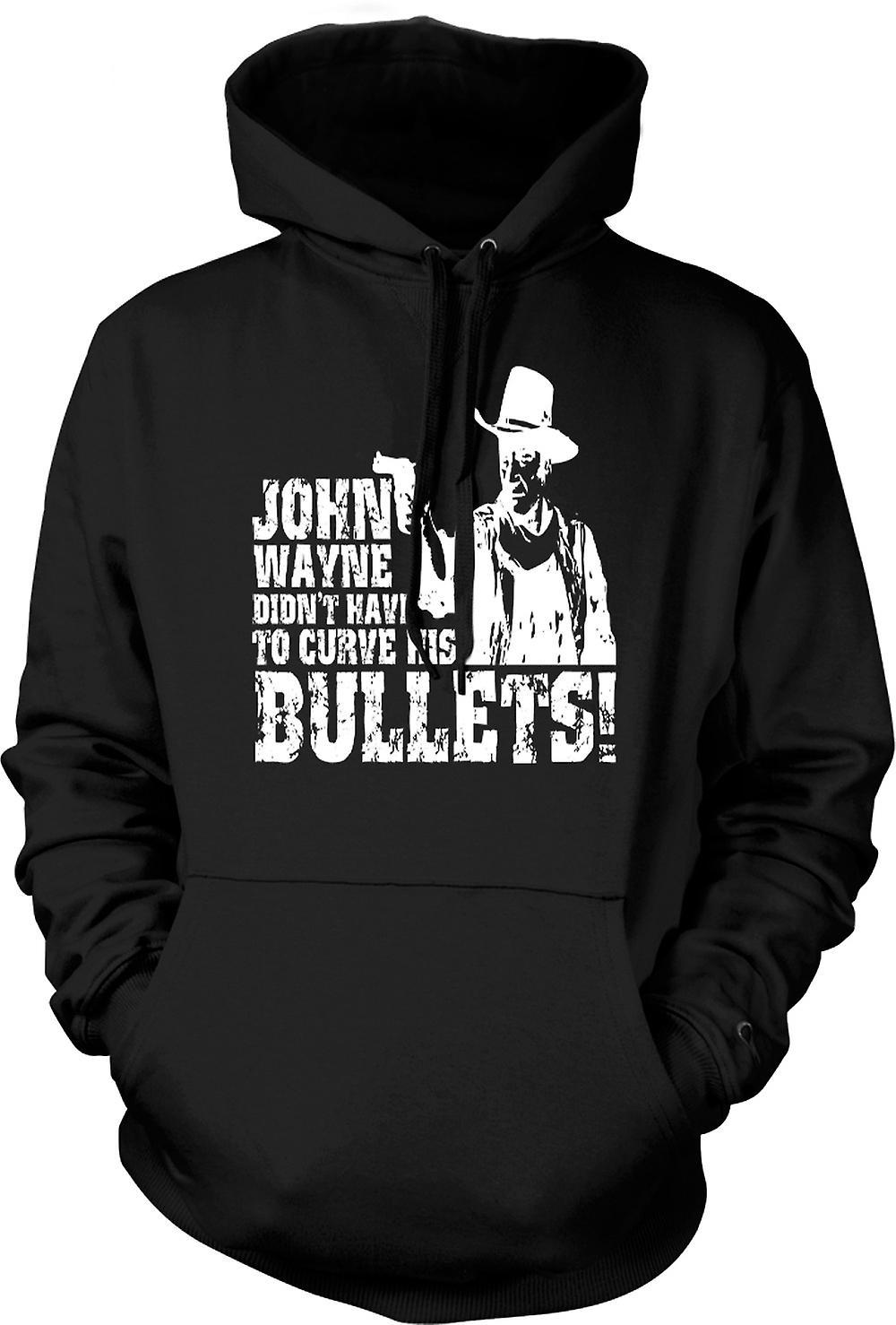 Mens Hoodie - John Wayne gebogen - Cowboy