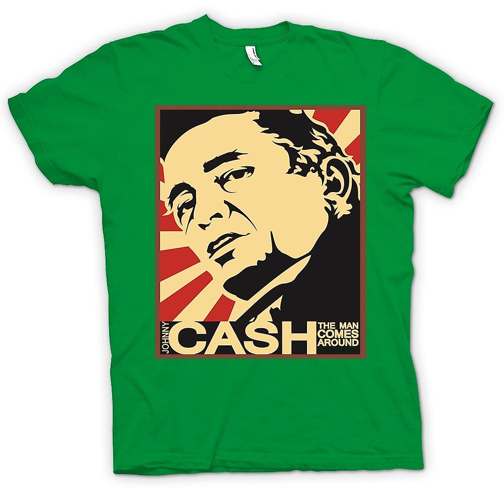 Herr T-shirt - Johnny Cash - Man kommer runt