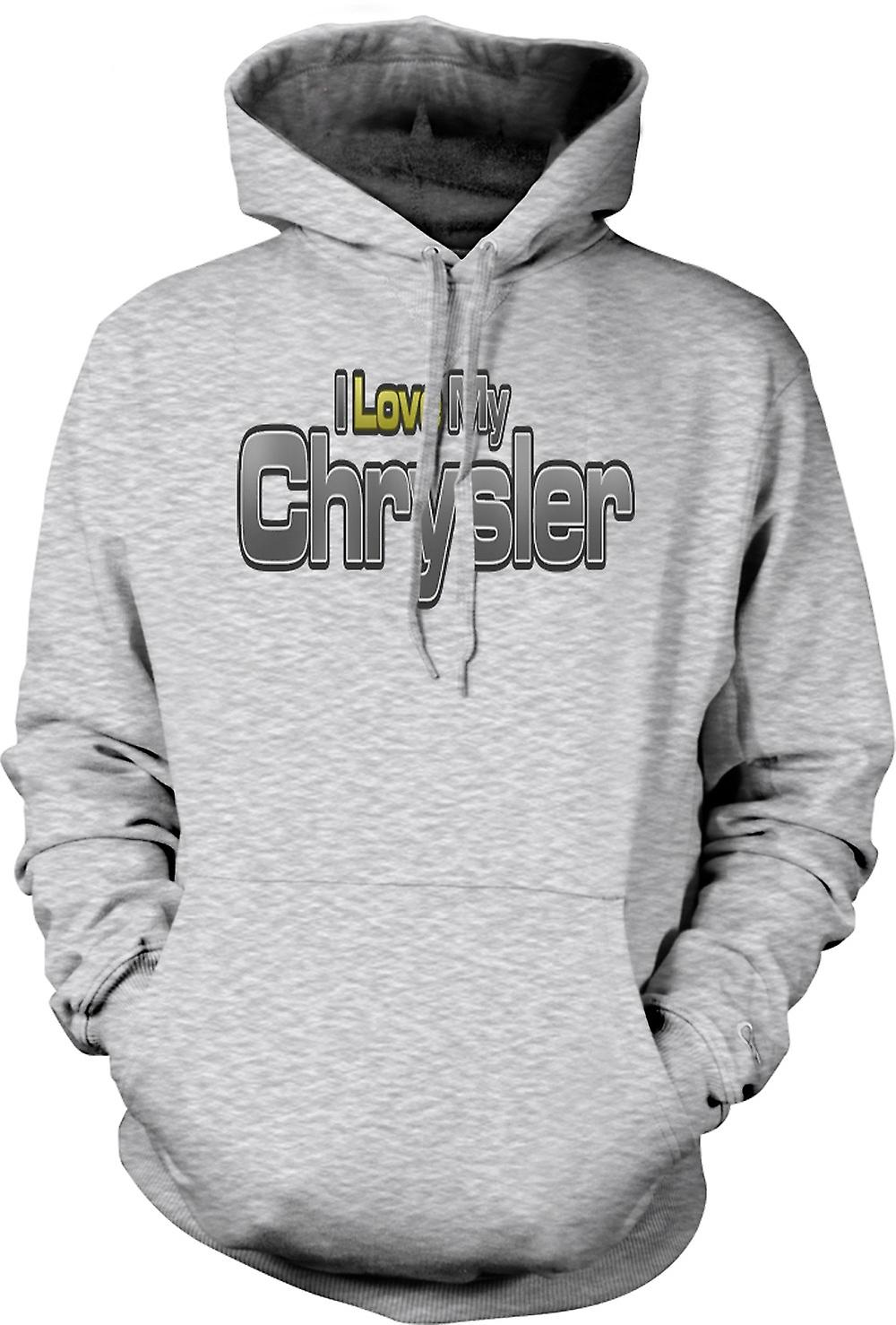 Mens Hoodie - I Love My Chrysler - Car Enthusiast