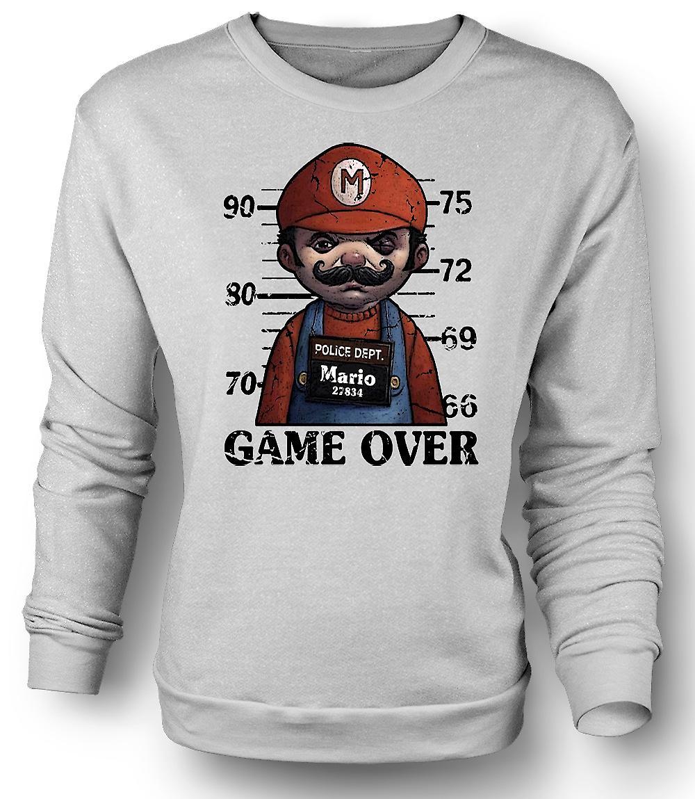 Mens Sweatshirt Mario - krus skudd - Funny