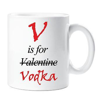 V is for Vodka Valentines Mug