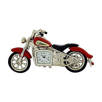 Miniature Red Indian Style Motorbike Novelty Collectors Clock -  9497R