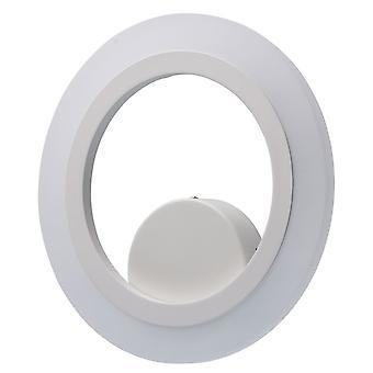 Glasberg - LED Wall Light Round White Finish 661024401
