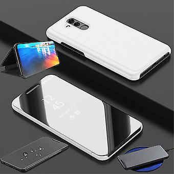 Für Xiaomi Mi 9 Clear View Spiegel Mirror Smartcover Silber Schutzhülle Cover Etui Tasche Hülle Neu Case Wake UP Funktion