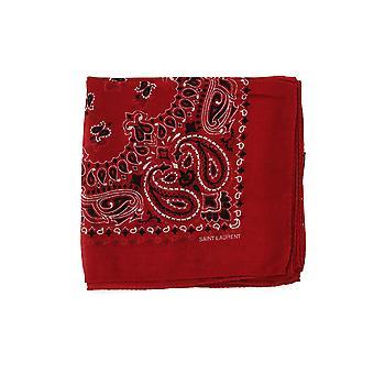 Saint Laurent Red Wool Foulard