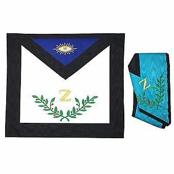 Masonic AASR 4th Degree Apron i kołnierz zestaw maszyna haftowane